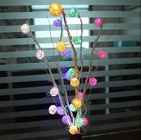 25 Dried flowers Tree Light Home Living Room Furnishings Knot Thailand Sepak Takraw Long Liu LED Holiday Light String 110-220V