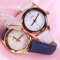 Julius Lady Woman Wrist Watch Quartz Hours Best Fashion Dress Korea Bracelet Brand Leather Shell Multicolored Square JA723
