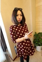Free gif6319 # new winter love over the United States recommended thickened waist chiffon skirt dress lotus leaf
