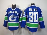 New Hockey Jerseys Canucks #30 Miller Jersey Home Blue Color Size 48-56 Stitched Mix Match Order