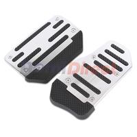 2pcs/Set General Non Slip Automatic Car Pedal Cover Aluminum  Manual Racing Sports Car Footrest Pedals Pad Board Plate