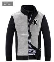 Plus Size L-4XL Fashion Men's Sports Jackets,Patchwork Cotton&Polyester Coats,High Quality Male Sport Base Ball Clothes