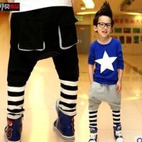 Free shipping 2014 New Autumn Children Striped Haren Pants Fashion Soft Design Boys Jeans C27
