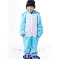 Free Shipping 2014 hot sale Unisex Children Animal  Fleece Suits Fancy Dress Costume Pajamas  Elephant