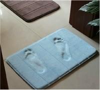 New Slow rebound memory foam mats waste-absorbing slip-resistant bath mat coral fleece mat doormat carpet D45