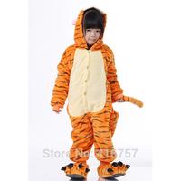 Lovely tiger child fleece animal themed costumes pyjamas  pajamas sleep suit children sleepwear free shipping