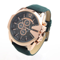 1pcs Fress Shipping V6 Quartz Men Watches Super speed PU Leather Band Rose Gold case Military Fashion Wristwatches discount