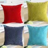 Free Shipping Hotel Home Pillow Case 2014 New Design Corduroy Soild Color Throw Pillow Case Cushion Cover 55cm x 55cm 11 Colors