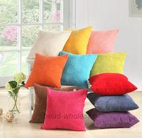Free Shipping Fashion Corduroy Sofa Decor Throw Pillow Case Cushion Cover Square Office Back Cushion Car Cushion 45cm x 45cm