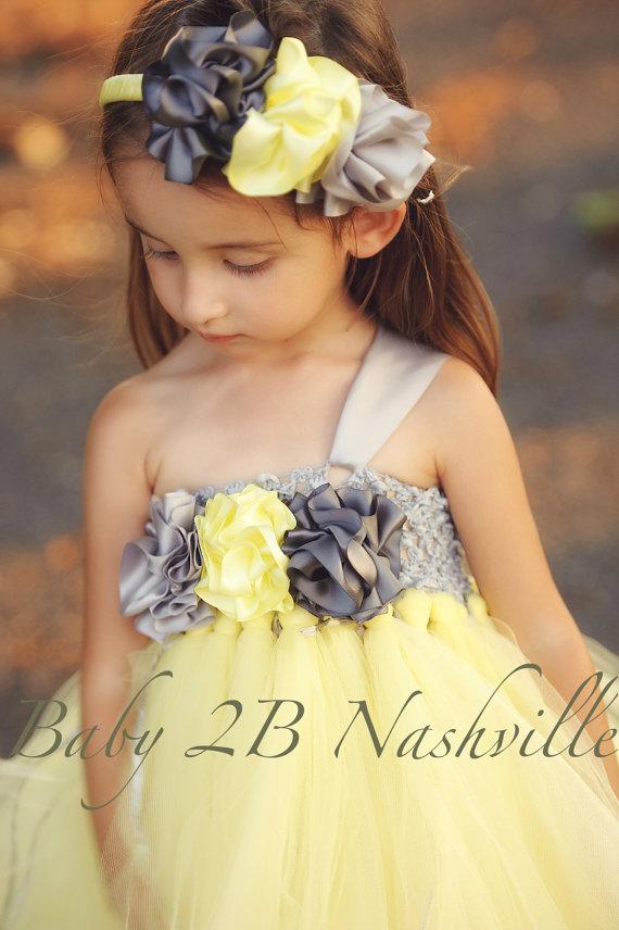 Yellow And Silver Wedding Dresses : Navy blue sequin strap belt flower girl dress