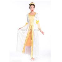 Bohemian Style European Queen Dress Retro Greek Goddess Yarn Cuffs Women's Halloween Costume