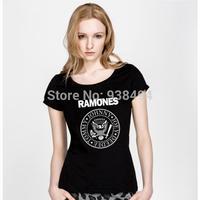 New Summer Classic Punk T-shirt Ramones Women Top 100% Cotton Short-sleeve Camiseta Ramones Tees T Shirt