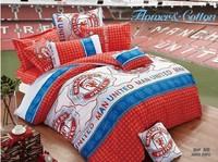 Man United kid boys girls duvet cover sheet pillowslips sets single / twin children's bedding sets gift bed linen