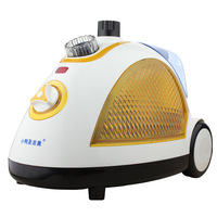 Electric garment Steam Iron for clothes handy portable 2 gears yellow 1800W 1.5L Teflon backplane continuous steamer output high