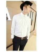 2014 new wave of casual men's long-sleeved shirt Korean fashion collar long-sleeved men's shirts