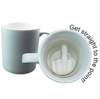 Free Shipping 48pcs Up Yours Mug Middle Finger Ceramic Mug ella ella Coffee Cup
