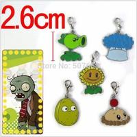 150sets/lot Anime Game PVZ Plants vs. Zombies Metal Figure Keychains Bag Pendants 5pcs/set
