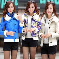 Wholesale korean new fashion 2014 winter jacket coats women short design thickening Fur duck down parkas outer wear plus size