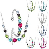 [Arinna Jewelry]New Design Jewelry sets Australia Crystal 18k Gold Plated Jewelry Jewelry Sets G0818 Christmas gift