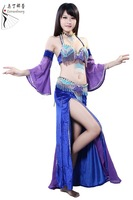 Top quality tassel professional belly dance costume belly dance outfits 5pcs free shipping