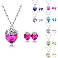 [Arinna Jewelry]New Design Jewelry sets Australia Crystal 18k Gold Plated Jewelry Jewelry Sets G0814 Christmas gift