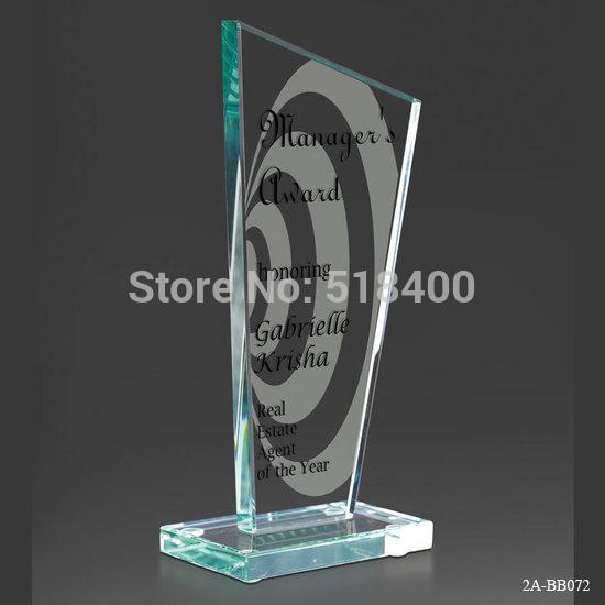 Noble Best selling new design high quality jade glass plaque Krisha Jade glass Award(China (Mainland))