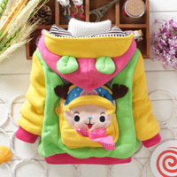 2014 Novelty Autumn Winter Warm Thickening Baby Jacket Girls Coat (4Pcs/lot) Children's Cotton Outerwear[iso-14-9-10-A2]
