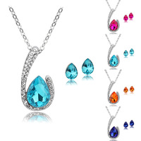[Arinna Jewelry]New Design Jewelry sets Australia Crystal 18k Gold Plated Jewelry Jewelry Sets G0813 Christmas gift