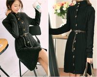 1pc/lot 03 Female cardigan sweater Hitz 2014 Korean version was thin Slim long cardigan sweater knit jacket turtleneck