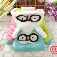 2014 Rabbit Sculpt  Comfortable Warm Thickening Baby Jacket Girls Coat (4Pcs/lot) Children's Cotton Outerwear[iso-14-9-10-A4]