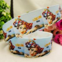 1493148, 22mm Brand Series Printed grosgrain ribbon, DIY handmade materials,headwear accessories, wedding gift wrap