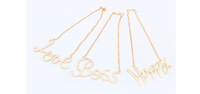 1pc Ladies Gold Plated Number Words  Lariat Style Necklace New