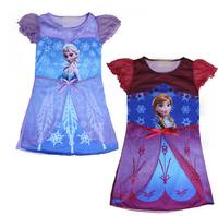 Baby girls Frozen dress,kids Snow Queen Elsa Anna tutu dress,children princess Summer clothing
