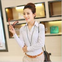 2014 autumn women big yards professional long-sleeved shirt Slim Korean lady waist blouses