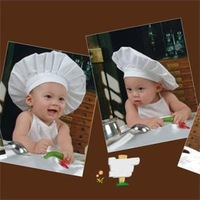 2014 New 3C Kawaii Baby Cook Clothing Set Newborn Baby Clothing Hats Caps Novetly Clothes Cooking set for Babies C3