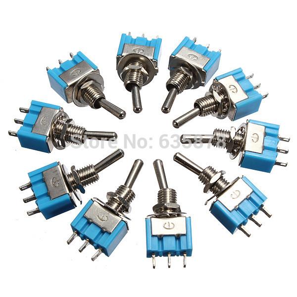 20Pcs lot Miniature Toggle Switch MTS 102 SPDT 6A 125VAC 3A 250VAC Mini Switch Lever Switch