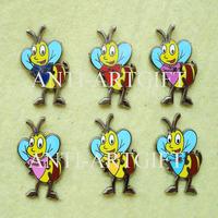 FREE SHIPPING, Immitation hard enamel BUZZ Bee lapel pin