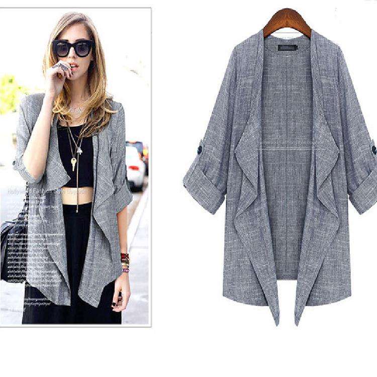2014 European Style Women Cardigans Coats Loose winter Spring Jackets Plus Size coats