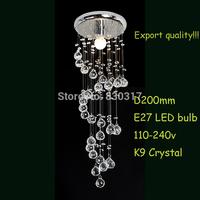 Chandelier lights Free Shipping + led bulb Modern Lighting  Aisle K9 Crystal Durable Base Export Quality Ribbon Design CEILING