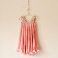 Girls clothing sleeveless dress beach dress