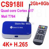 2014 newest! CS918II android 4.4 TV box, quad core Cortex A17 RK3288,2Gb+8Gb,4K,H.265,smart tv box better than MINIX NEO X8-H