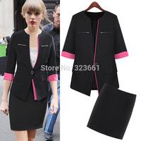New Women Plus-size Work Wear Suit coat  skirt business suits jacket  formal office suits work  uniform style blazer