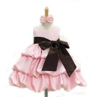 Retail 3 Colors Dresses Summer Baby Girl Vestidos Infantis Fashion Roupas Meninas Big Bow Vestidos Se Menina Kids Clothes