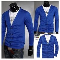 Men's cardigan sweater2014 new men's cotton casual V-neck sweater Slim sweater cardigan sweater men's men's fashion