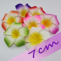 Free Shipping 7cm middle multicolor multiple Hawaiian PE plumeria flower Frangipani Flower bridal hairclip egg flower 100pcs/lot