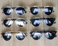 2014 New Metal Wrap Cat Eye Sunglasses Vintage Fashion Summer Oculos Women Brand Designer Steampunk Oculos De Sol Feminino