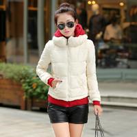 New 2014 Korean Style Winter Coat Women Casual Short Design Coat Parka Thicken Slim Fashion Warm Down Jacket Overcoat JC046