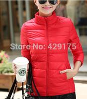 Winter Women Coat 90% White Duck Down Coat Brand Jacket Warm Down Jacket Coat 12 Colors Plus Size S - 3 XL 2014 New