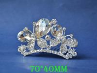2014 New Fashion Wedding Bridal Crystal Rhinestone Crown Headband Jewelry Tiara Hair Comb Clip G0019