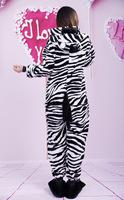 2014 adult flannel  animal cartoon zebra onesies  couple sleep wear  lovely lady night clothes